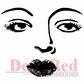 Deep Red Cling Stamp - Bette Davis Eyes