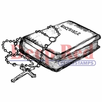 Deep Red Stamp - Bible & Rosary