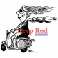 Deep Red Cling Stamp - Born To Ride