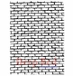 Deep Red Cling Stamp - Brick Wall Background
