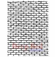 Deep Red Stamp - Brick Wall Background