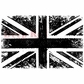 Deep Red Cling Stamp - British Flag Grunge