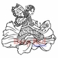 Deep Red Cling Stamp - Butterfly Fairy