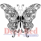 Deep Red Stamp - Butterfly Swirl