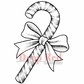 Deep Red Cling Stamp - Candy Cane