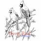 Deep Red Cling Stamp - Cardinals
