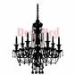 Deep Red Stamp - Chandelier Silhouette