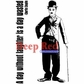 Deep Red Cling Stamp - Charlie Chaplin