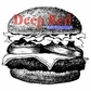 Deep Red Cling Stamp - Cheeseburger