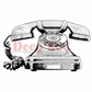 Deep Red Cling Stamp - Classic Telephone