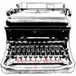Deep Red Cling Stamp - Classic Typewriter