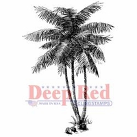 Deep Red Cling Stamp - Coconut Palms