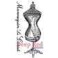 Deep Red Cling Stamp - Corset Dress Form