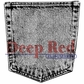 Deep Red Cling Stamp - Denim Pocket