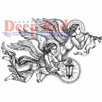 Deep Red Cling Stamp - Divine Angels