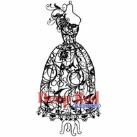 Deep Red Stamp - Dress Form Floral Corsage