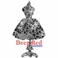 Deep Red Cling Stamp - Dress Form Steampunk