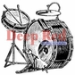 Deep Red Cling Stamp - Drum Set