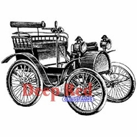 Deep Red Stamp - Early Motorcar