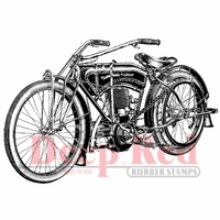 Deep Red Stamp - Early Motorcycle