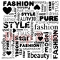 Deep Red Cling Stamp - Fashion Square