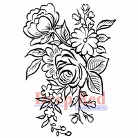 Deep Red Stamp - Floral Arrangement