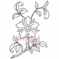 Deep Red Cling Stamp - Flower Blossom