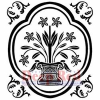 Deep Red Cling Stamp - Folk Vase