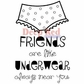Deep Red Cling Stamp - Friends and Underwear