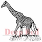 Deep Red Cling Stamp - Giraffes