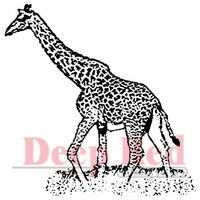 Deep Red Stamp - Giraffe