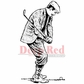 Deep Red Cling Stamp - Golfer In Knickers