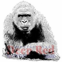 Deep Red Cling Stamp - Gorilla