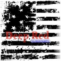 Deep Red Stamp - Grunge Stars & Stripes