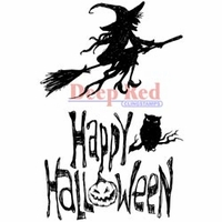 Deep Red Stamp - Halloween Witch