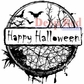 Deep Red Stamp - Happy Halloween