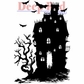 Deep Red Stamp - Haunted House