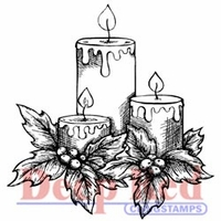 Deep Red Stamp - Holiday Candles