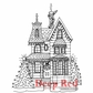 Deep Red Cling Stamp - Holiday House