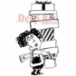 "Deep Red Cling Stamp - Holiday Shopper 2""x3.25"""