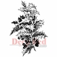 Deep Red Cling Stamp - Holly Branch