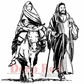 Deep Red Cling Stamp - Holy Family