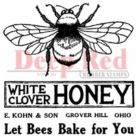 Deep Red Stamp - Honey Bee Vintage