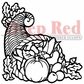 "Deep Red Cling Stamp - Horn Of Plenty 2""x2"""