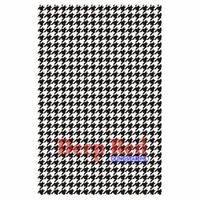 Deep Red Stamp - Houndstooth Background
