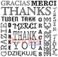 Deep Red Cling Stamp - International Thank You