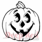 Deep Red Cling Stamp - Jack-O'-Lantern