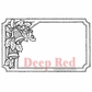 "Deep Red Cling Stamp - Jingle Bells Tag 3""x2"""