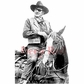 Deep Red Cling Stamp - John Wayne