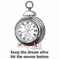 Deep Red Cling Stamp - Keep The Dream Alive